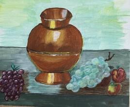 le vase en cuivre fini