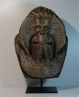 Orang-Outan - Résine et poudre de bronze
