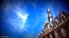 Nuage en forme d'ange Mairie de Saint Denis