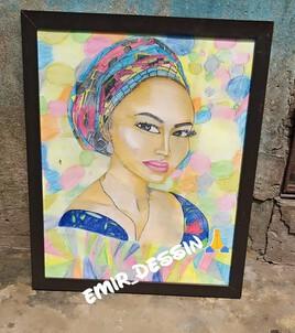 Femme africaine beauté