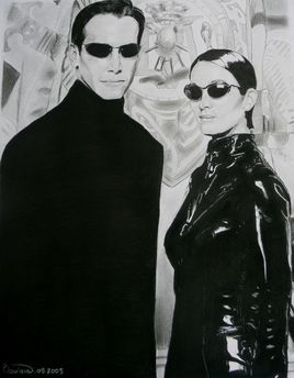 Keanu Reeves et Carrie Anne-Moss