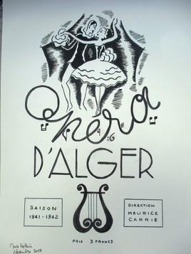 Ancienne affiche opéra d'Alger