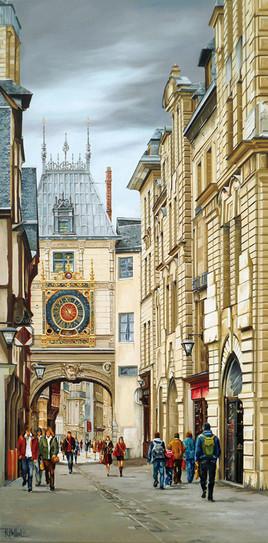 Rouen rue du Gros Horloge (2)