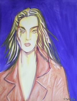 Portrait de jeune femme .