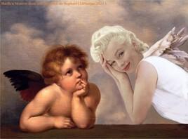 "petite  incruste de Marilyn dans ""les chérubins"" de Raphael  :)"