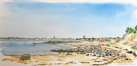 plage du Galon d'Or vers l'est