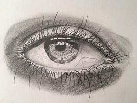 l'oeil à a goutte