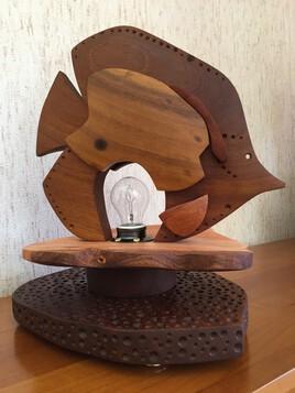 Sculpture lampe poisson