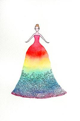 Petite princesse colorée.