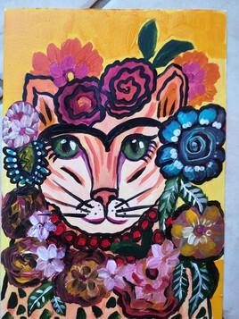 Frida KAHLO cat