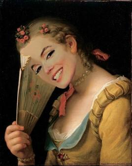 Marilyn revisite une peinture de  Pietro Rotari :)