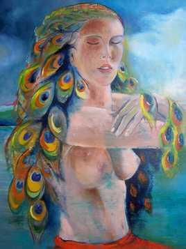 la femme paon