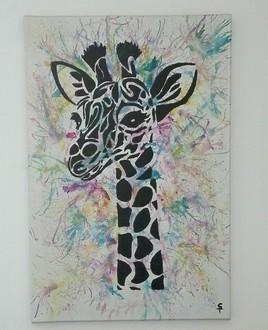 Happy girafes