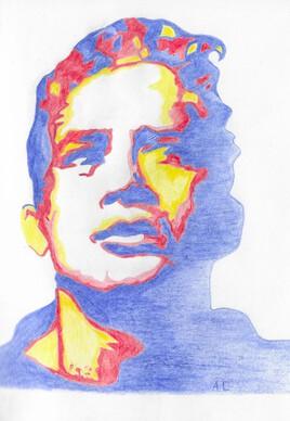 Portrait couleurs primaires