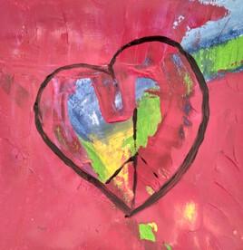 Coeur débordant de bonheur