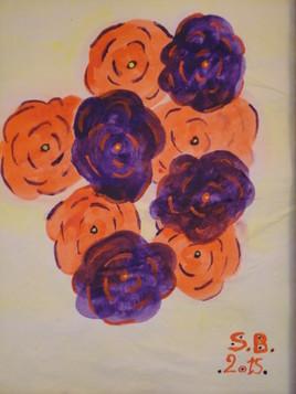 Bouquet orange et violet par S.B. - 2015
