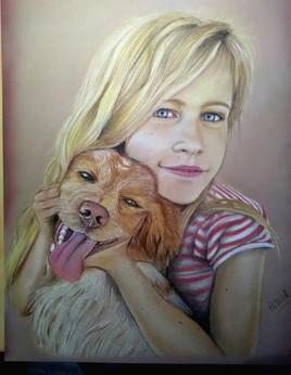 Ma princesse et son chien
