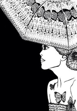 Femme aux papilions.