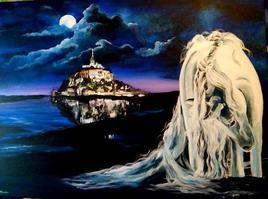 cheval de nuit et Mont St Michel