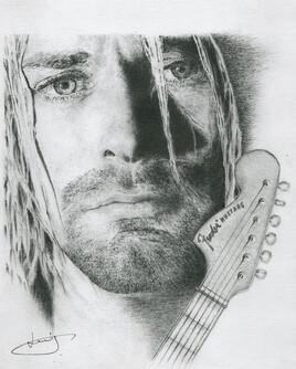 Dessin de portrait de Kurt Cobain, par PORTRAIT éMOI