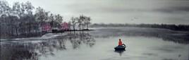 l'enfant sur la barque