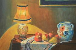 Lampe et fruits