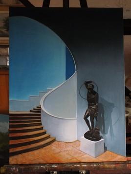 Statue de l' escalier
