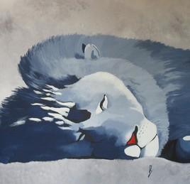 """""""Le lion bleu endormi"""""""