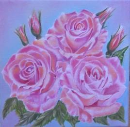 bouquet de 3 roses