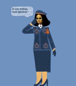 Mona, la femme officier