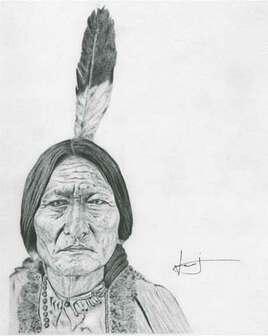 Dessin de portrait de Sitting Bull, par PORTRAIT éMOI