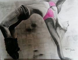 Dessin femme qui danse