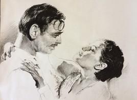 Yvonne Decarlo et Clark Gable