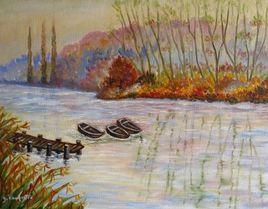 Brume sur l'étang de Villeréal