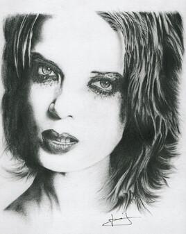 dessin de portrait de Shirley Manson, par PORTRAIT éMOI