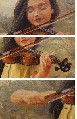 Josette avec son violon (Detail)