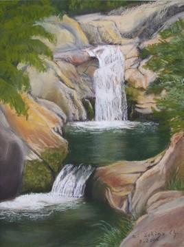 La cascade (50x40).