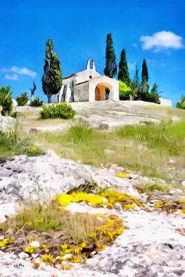 Paysages de Provence - Chapelle d'Eygalières