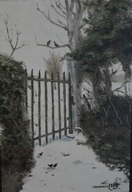 paysages de neige au village