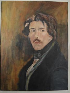 Copie du portrait d' Eugène Delacroix