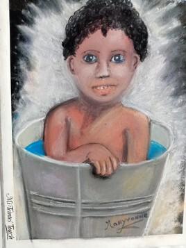 Kirikou prend son bain