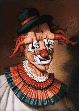 Le clown aux nues