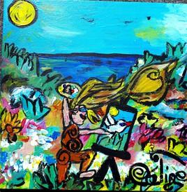 La peintre au coeur de la nature
