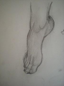 1ere étude d'un pied