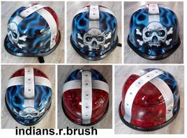 helmet airbrush ... indians.r.brush