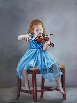 Petite fille au violon