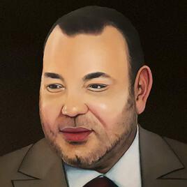 portrait roi du maroc
