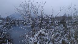lac à contre jour