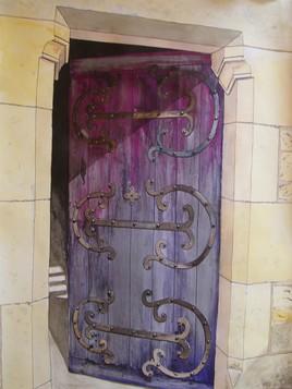 Porte d'abbaye