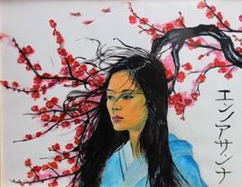 Japonaise au cerisier